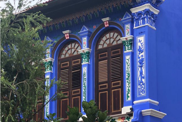 Emerald Hill Walk Blue House