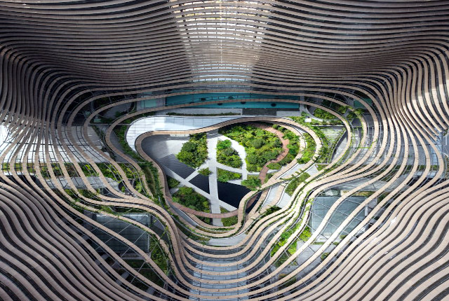 Modern-Architecture-Singapore-Walk-Marina-One-Ariel-view