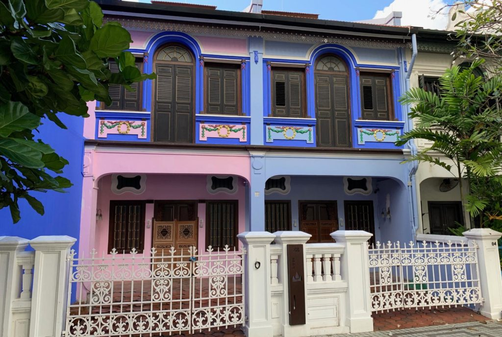 Emerald Hill Pink & Blue Shophouse
