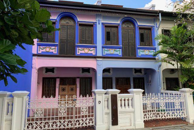 Emerald Hill Pink & Blue Shophouse