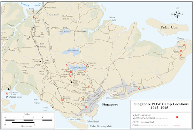 WW2 Surrender SG PoW camps map