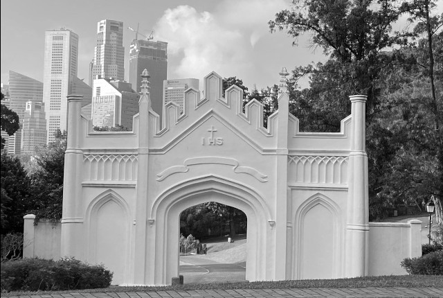 Spooky Fort Canning Gothic Gate