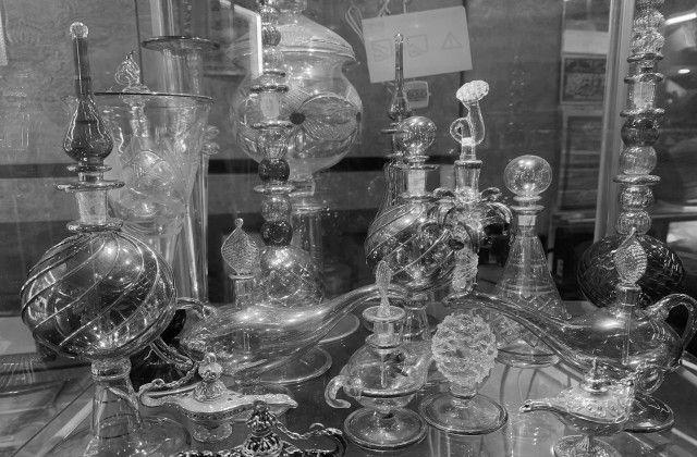 Spooky Kampong Glam Glass jars